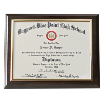 Diploma Frame Size 8 X 6